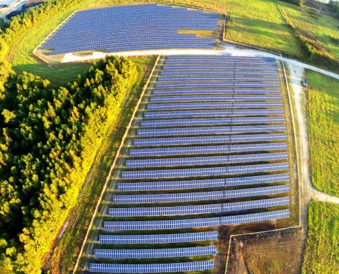 Renewable Energy and Preservation - aerial shot